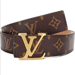 New Fashion Leather Metal Buckle LV Belt